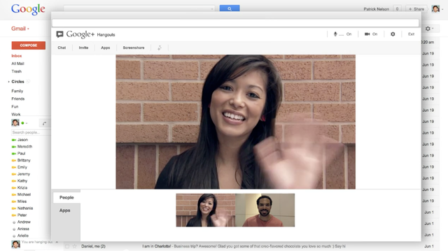 Google Adds Hangout Feature