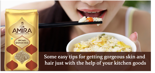 Some easy tips for getting gorgeous skin and hair just with the help of your kitchen goods
