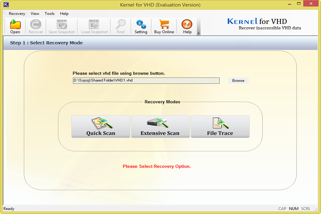 Kernel VHD Recovery
